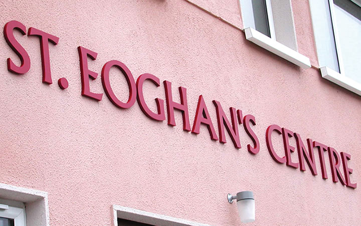 St Eoghans foamex cut letters